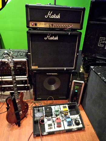 Bass guitar rigs setup